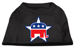 Republican Party elephant mascot dog shirt black