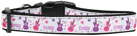 Rockstar Guitar adjustable dog collar music