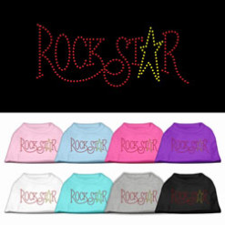 Rockstar rhinestones dog t-shirt colors