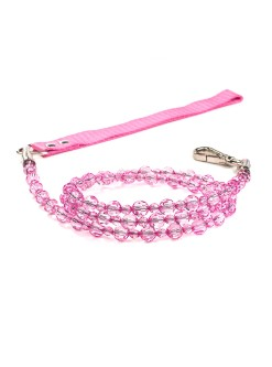 Rose Beaded Dog Leash Fab
