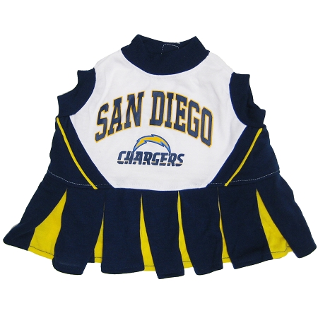 San Diego Chargers NFL dog cheerleader dress