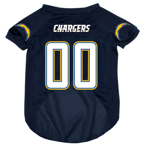 San Diego Chargers dog jersey alternate sylte