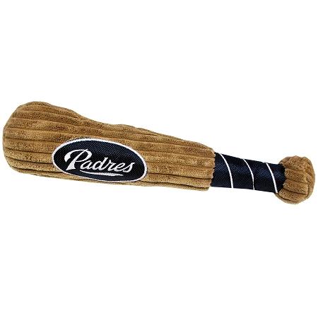 San Diego Padres MLB plush dog baseball bat