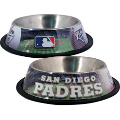 San Diego Padres Stainless dog bowl