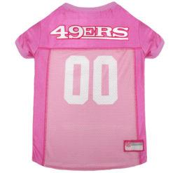San Francisco 49ers Pink NFL Dog Jersey