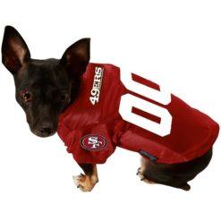 San Francisco 49ers alternate dog jersey on pet