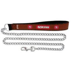San Francisco 49ers leather NFL dog leash