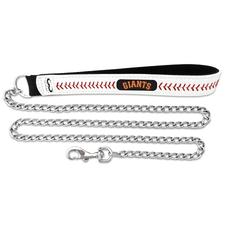 San Francisco Giants leather chain dog leash