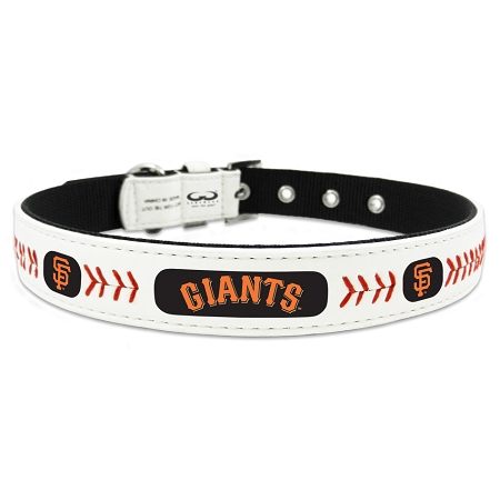 San Francisco Giants leather dog collar