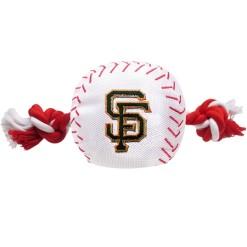 San Francisco Giants plush baseball rope dog toy