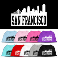 San Francisco skyline silhouette Screenprint t-shirt sleeveless