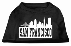 San Francisco skyline silhouette Screenprint t-shirt sleeveless black