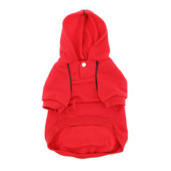 Scarlet Red Sport Dog Hoodie front