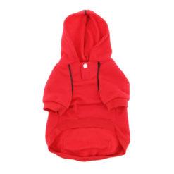 Scarlet Red Sport Dog Hoodie front