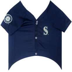 Seattle Mariners MLB dog jersey front