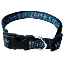 Seattle Mariners MLB nylon dog collar