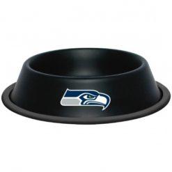 Seattle Seahawks Black Stainless Dog Bowl