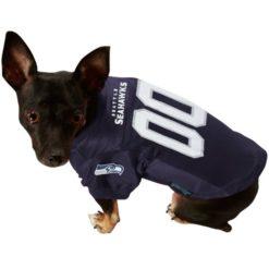 Seattle Seahawks NFL dog jersey alternate style on pet
