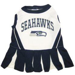 Seattle Seahawks leather NFL dog cheerleader dress