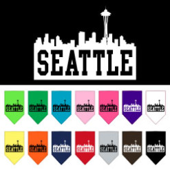 Seattle skyline dog bandanas