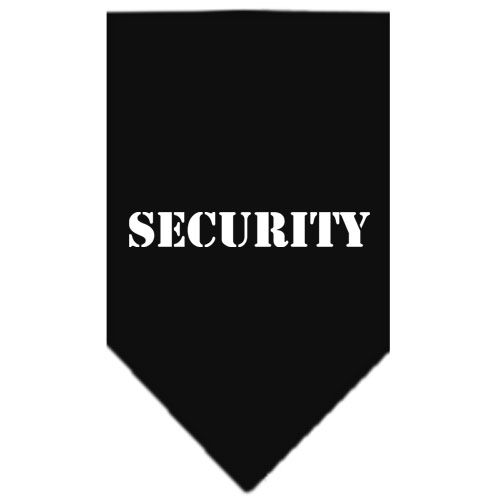 Security dog bandana black