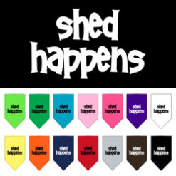 Shed Happens dog bandana