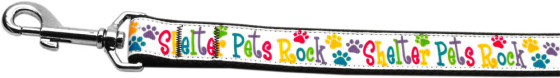 Shelter Pets Rock Dog Leash nylon