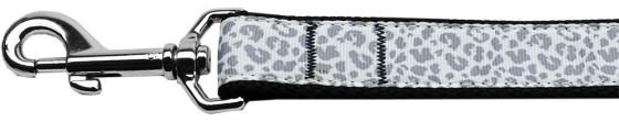 Silver leopard nylon dog leash