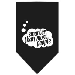 Smarter than Most People dog bandana black