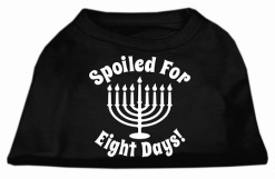 Spoiled for Eight Days Hanukkah menorah screen print sleeveless shirt black