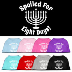 Spoiled for Eight Days Hanukkah menorah screen print sleeveless shirt colors