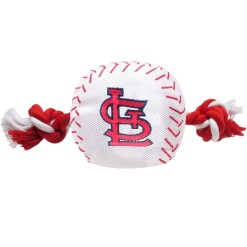St Louis Cardinals MLB dog ball and rope toy