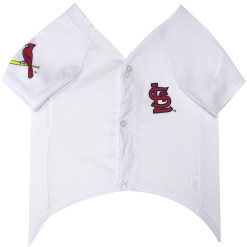 St Louis Cardinals MLB dog jersey front