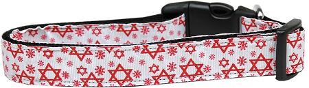 Red Star of David adjustable dog collar