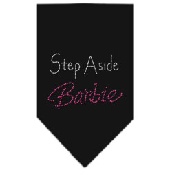 Step Aside Barbie rhinestone dog bandana black