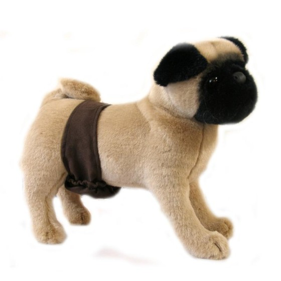 Suede Brown Dog Belly Band