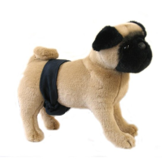 Suede Navy Blue Dog Belly Band