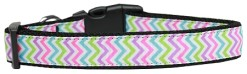 Summer Chevron Pattern adjustable dog collar