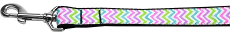 Summer Chevron pattern dog leash