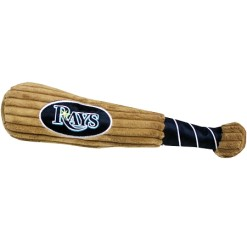 Tampa Bay Rays MLB dog plush baseball bat
