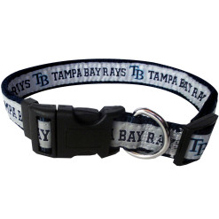Tampa Bay Rays MLB nylon dog collar