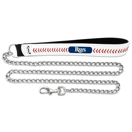 Tampa Bay Rays leather dog chain leash