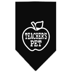 Teacher's Pet Apple dog bandana black