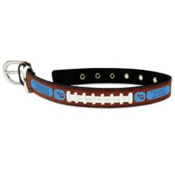 Tennessee Titans leather dog collar large