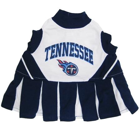 Tennessee Titans mesh NFL dog cheerleader dress