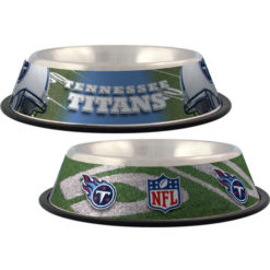 Tennessee Titans stainless dog NFL bowl