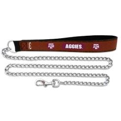 Texas A&M Aggies NCAA leather dog chain leash