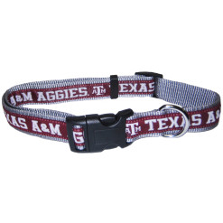 Texas A&M Aggies NCAA nylon dog collar