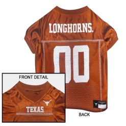 Texas Longhorns NCAA dog jersey