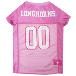 Texas Longhorns Pink NCAA Dog Jersey